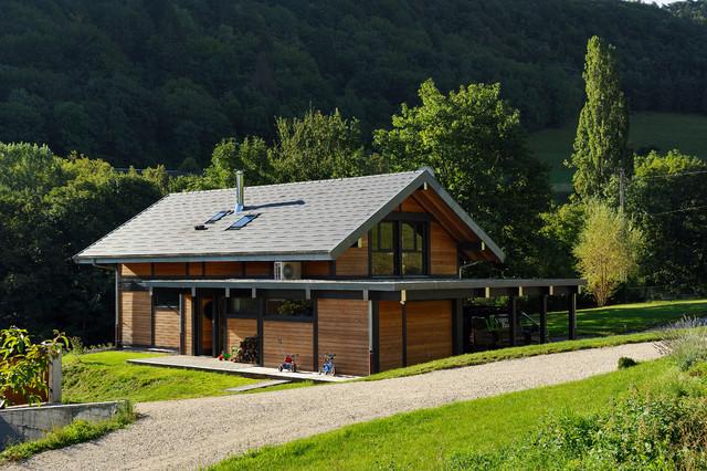 Maison bois poteau poutre Barberaz Savoie 7  Contemporary  Exterior  other