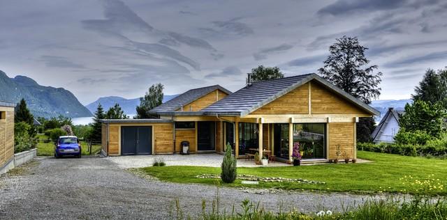 Maison bois poteau poutre de plein pied , Savoie (73) # Maison En Bois Plein Pied