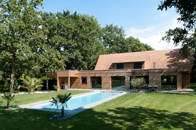 maison calvados 2 contemporary exterior le havre by beuneiche bernard architecte d 39 int rieur. Black Bedroom Furniture Sets. Home Design Ideas