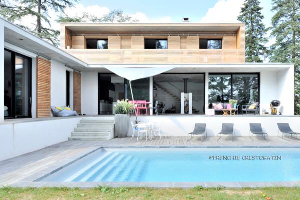 maison contemporaine en bton charbonnires contemporary exterior - Maison Moderne Beton