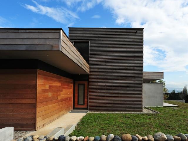 maison contemporaine lac du bourget contemporain fa ade autres p rim tres par patriarche. Black Bedroom Furniture Sets. Home Design Ideas