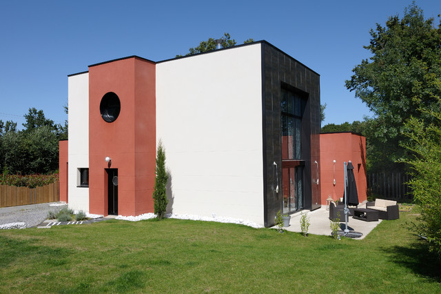 Maison contemporaine - Contemporain - Façade - Angers - par ...