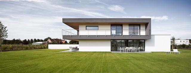 maison individuelle à mérignies - contemporain - façade - lille ... - Architecture Contemporaine Maison Individuelle