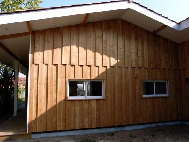 Maison ossature m tallique et bois bord de mer fa ade for Facade maison architecte