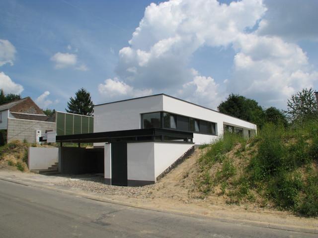 Maison passive contemporaine à Nivelles - Belgique - Contemporain ...