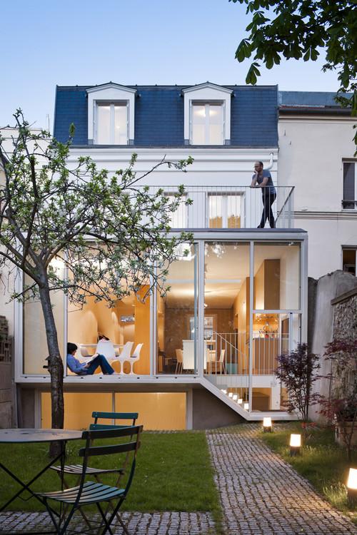 Extension de maison véranda blanche