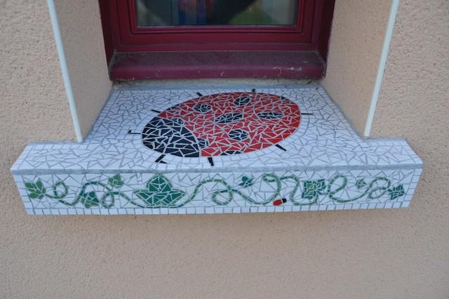 Mosaïque, Appui De Fenêtre - Craftsman - Façade - Angers - Par Aline