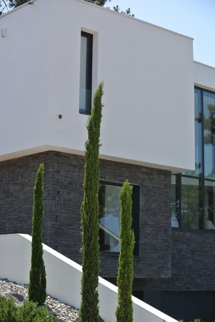 Parement pierre orsol de chez h misph re r alisation for Facade maison moderne pierre