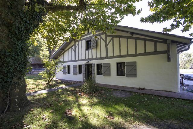 R novation d 39 une maison landaise campagne fa ade for Decoration maison landaise