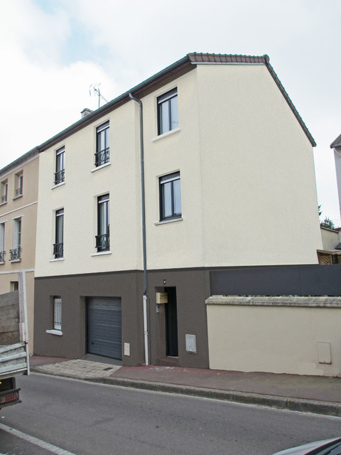 R novation et transformation d 39 une maison de ville traditional exteri - Renovation maison de ville ...
