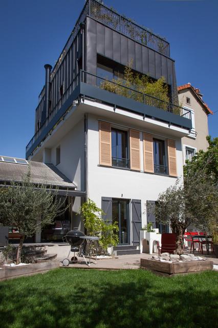 Toit Terrasse Maison De Ville : SUR u00c9L u00c9VATION DE MAISON AVEC TOIT TERRASSE Contemporary