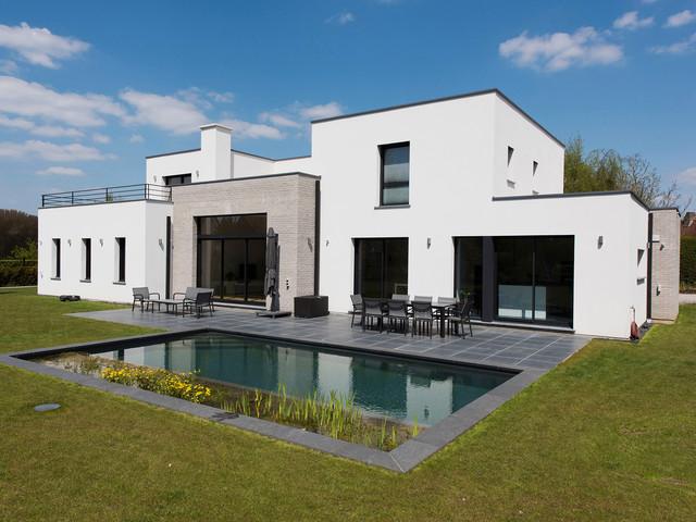 Une Maison Cubique Contemporary Exterior Lille By