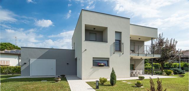 Architettura moderna contemporaneo facciata venezia for Architettura moderna case