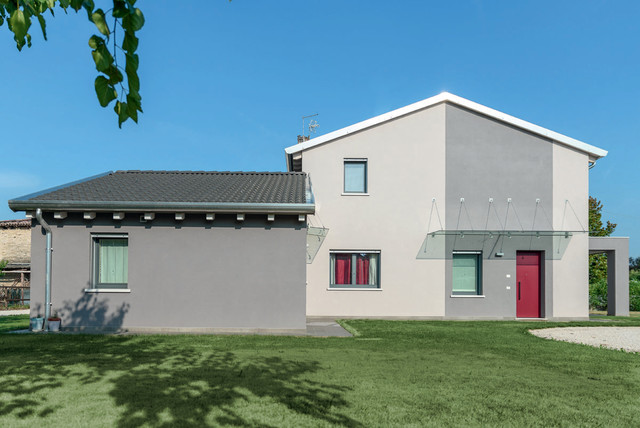 casa bifamiliare moderno facciata venezia di