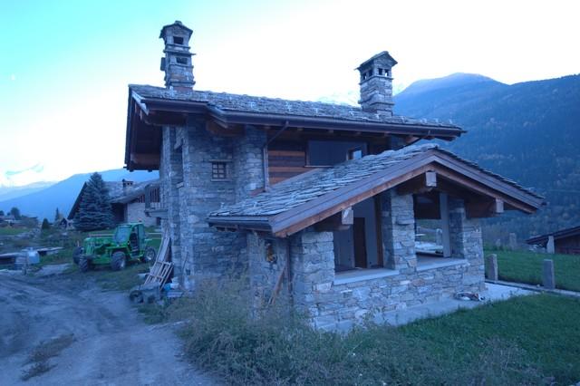 Case Di Montagna In Pietra : Case in legno e pietra stunning moderna edilizia privata with