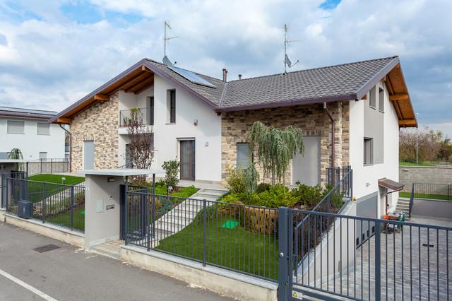 Beautiful ville e bifamiliari with facciate ville for Progetti di piani di casa con foto