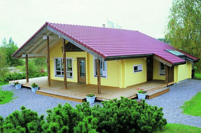 Casas de madera canadienses for Casas de campo de madera