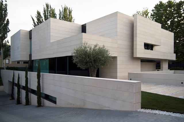 Park house contempor neo fachada madrid de a cero - Rafael llamazares arquitecto ...