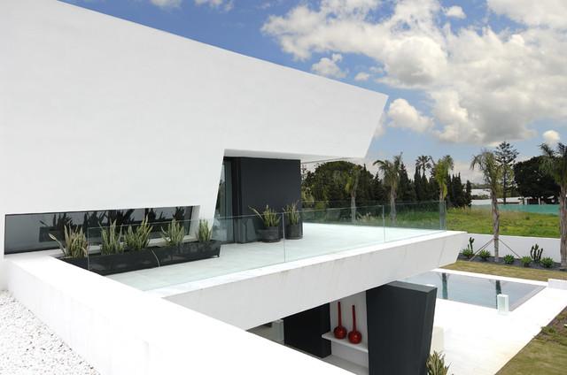 Vivienda sotogrande mediterr neo fachada madrid de - Arquitecto sotogrande ...