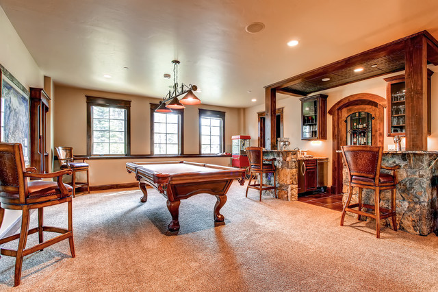 1296 ski hill road   game room traditional family room