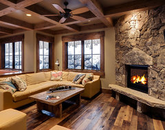 177 white pine - new build rustic-family-room