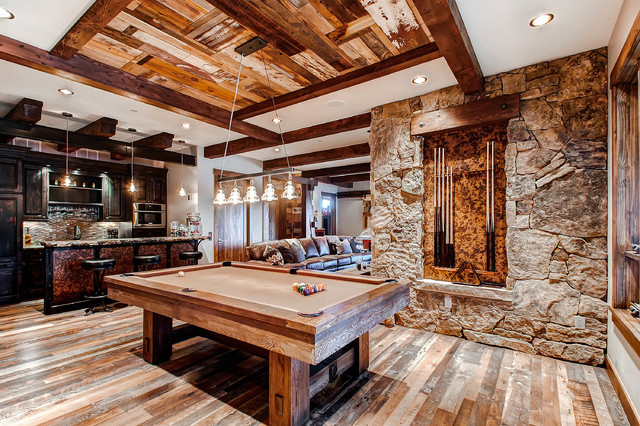 19 Peak Eight Circle Rustic Family Room Denver By
