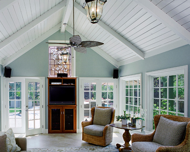 2 tudor revival traditional family room los for Family room los angeles