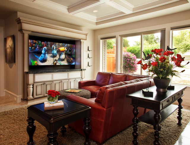 """2011 Street of Dreams (""""con Amore"""") traditional-family-room"""