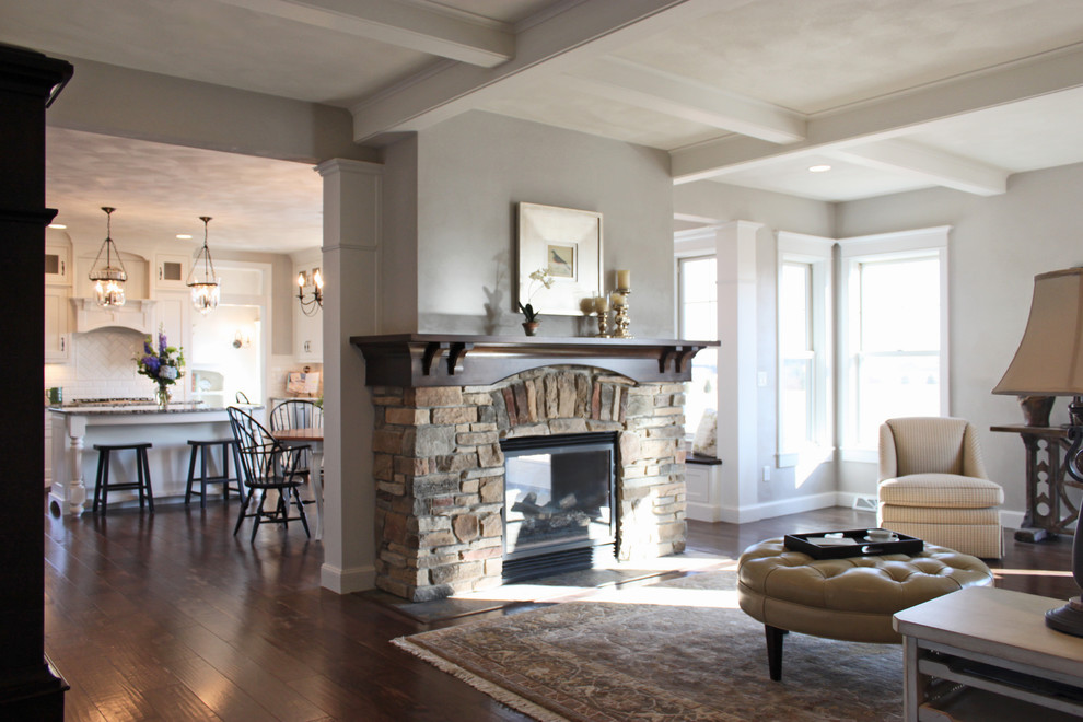Family room - traditional family room idea in Other