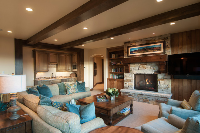 2013 Park City Showcase of Homes by Utah Home Builder, Cameo Homes Inc. traditional-family-room