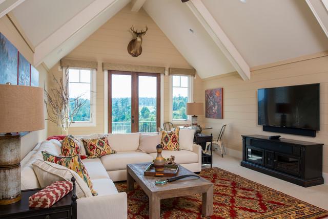2013 Southern Living Custom Builder Showcase Home Craftsman Family Room Atlanta By Sh