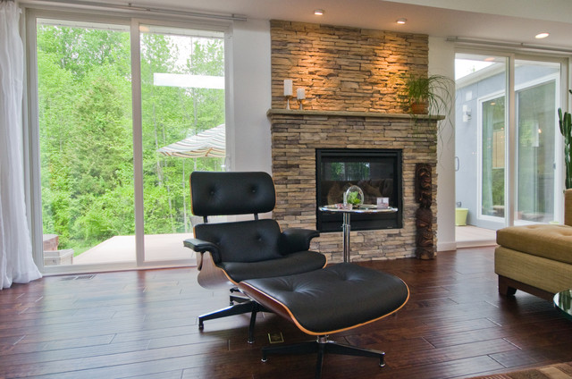 3,500 Sq. Ft. Custom Home contemporary-family-room