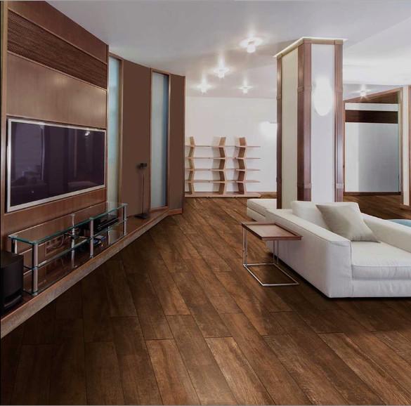 Sq Ft Capella Java 6x40 Wood Look Italian Made