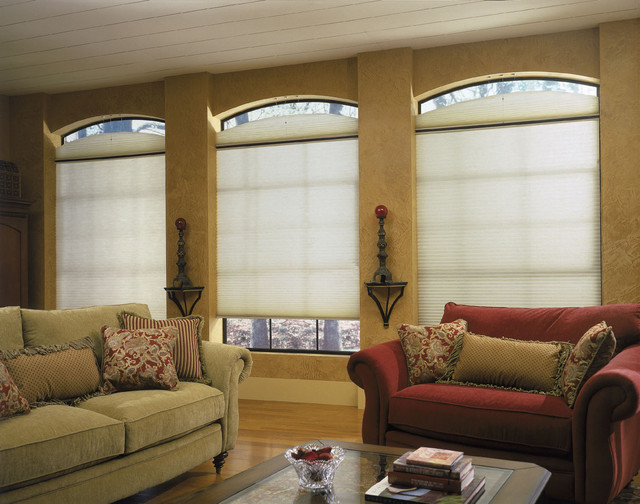 Eyebrow windows in a family room eclectic family room