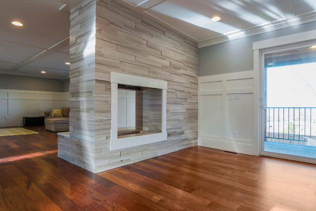 3D Limestone Fireplace - Contemporary - Family Room - Salt Lake ...
