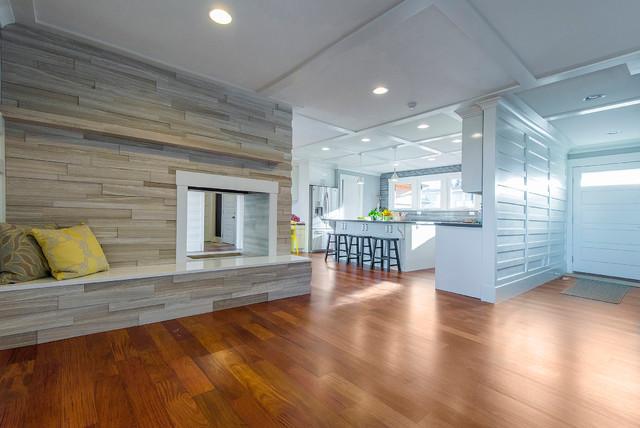 3D Limestone Fireplace - Contemporary - Family Room - Salt Lake ...