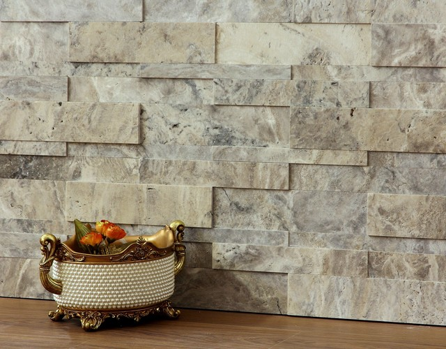 3d Natural Stone Wall Cladding Silver Travertine