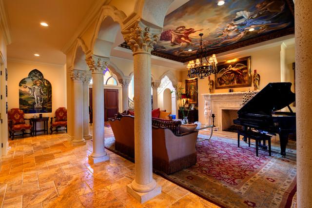4011 Higel Siesta Key mediterranean-family-room