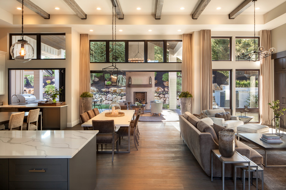 5 100 Sq Ft Modern Farmhouse Showcase Home Farmhouse Family Room Portland By Wendy O Brien Interior Planning Design