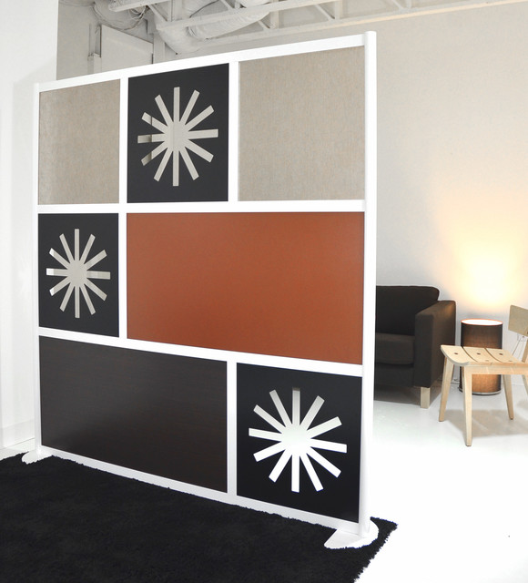 6 Modern Room Divider Black Brown and Custom Cutout panels