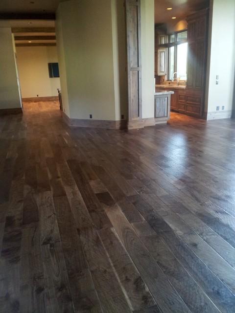 7 Hand Scraped Walnut Plank Traditional Family Room Salt Lake