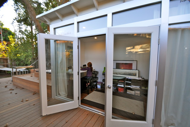 Do It Yourself Home Design: 8x14 Music Studio Shed Office