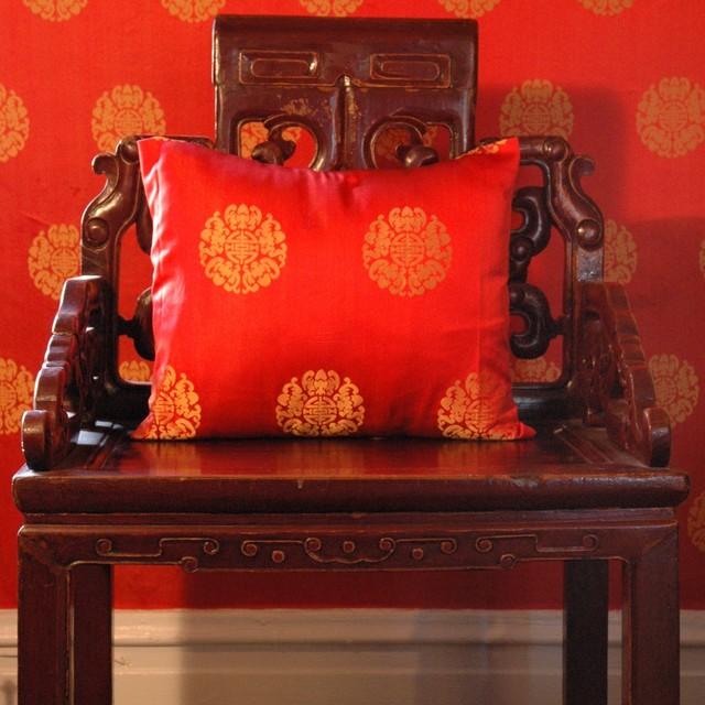"""A Backwards Glance"" traditional-family-room"