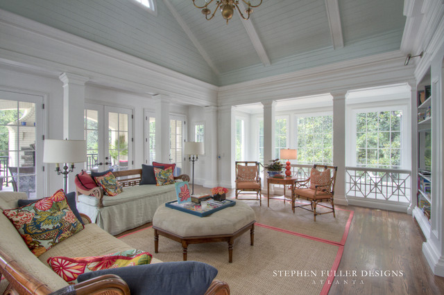 A Classic New Family Room for a Historic Home traditional-family-room
