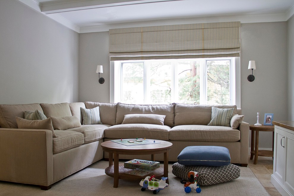 A Family Home in Larchmont - Contemporary - Family Room ... on Clare View Beige Outdoor Living Room id=90649