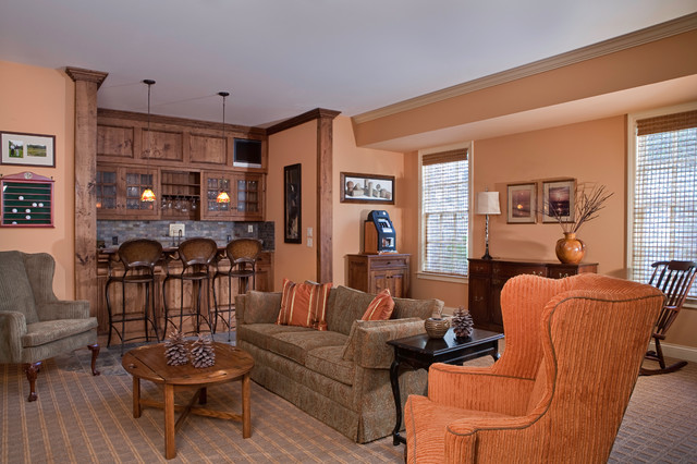 A metropolitan home with classic appeal. traditional-family-room