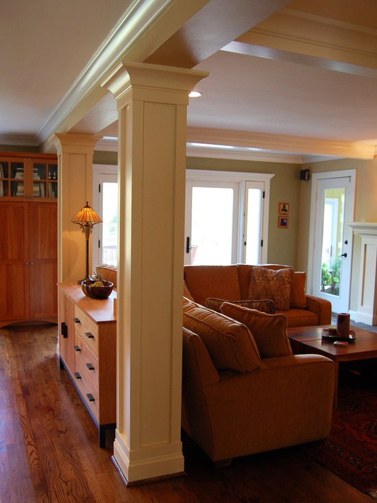 Family room a new open floor plan for Family room columns