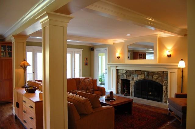 A New Open Floor Plan modern-family-room