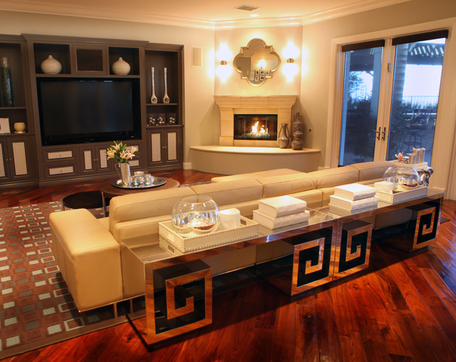 A.S.D. Interiors family room design - contemporary - family room ...