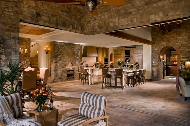 A Tuscan Farmhouse 1 Mediterranean Family Room